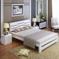 单人床 直销家装简约现代成人实木双人床 批发卧室家具松木单人床