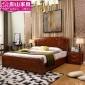 实木家具实木床 胡桃木床简约双人床1.8米卧室家具厂家直销批发