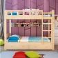 批发实木双层床学生宿舍双层实木床员工松木高低儿童母子床