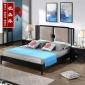 新中式床组合实木禅意1.8米双人床现代整装卧室全屋家具定制