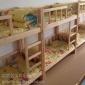 成都幼儿园家具实木托儿所床厂家