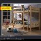 山西纯松木高箱公寓双层床 宿舍床厂家 贝贝乐家具