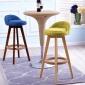 家用实木吧椅时尚酒吧椅吧台实木凳高脚凳创意前台椅包邮