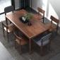 万家达 胡桃木桌椅组合 简约家具 价格优惠